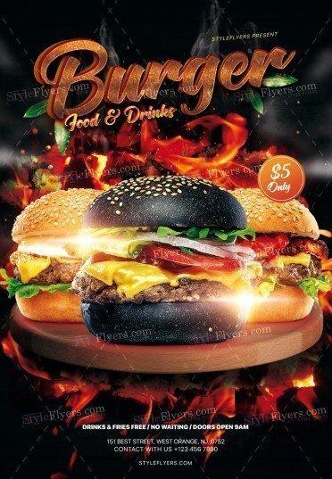 Burger PSD Flyer Template