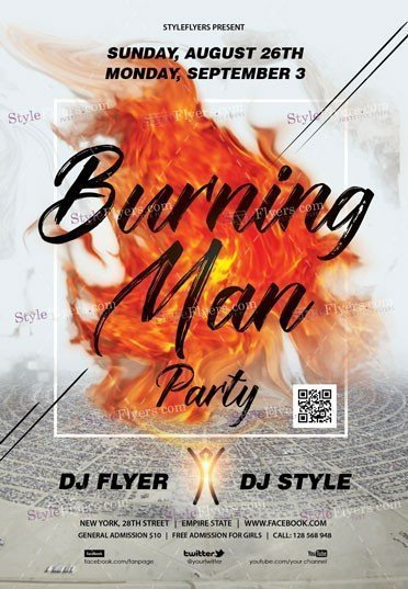 Burning Man 2018 PSD Flyer Template