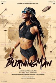 Burning Man PSD Flyer Template