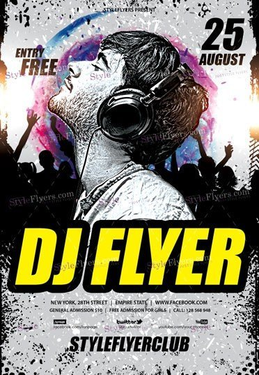 DJ PSD Flyer Template