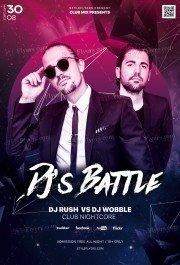 Dj's Battle PSD Flyer Template