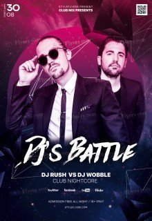 Dj's Battle PSD Flyer Template