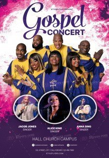 Gospel Concert PSD Flyer Template