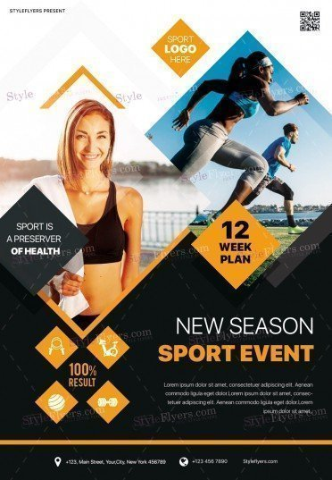 New Season Sport Event PSD Flyer Template