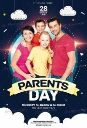 Parents' Day PSD Flyer Template