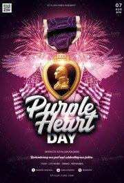 Purple Heart Day PSD Flyer Template