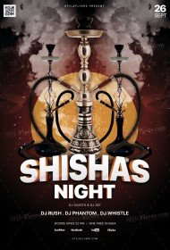 Shisha's Night PSD Flyer Template