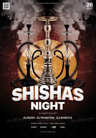 Shisha's Night PSD Flyer Template
