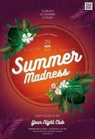 Summer Madness Flyer PSD Template