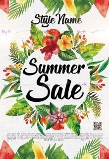 Summer Sale PSD Flyer Template