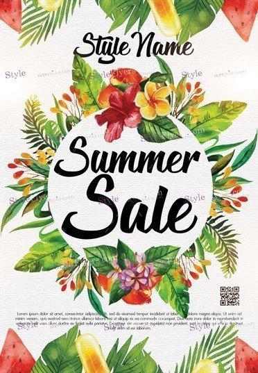 Summer Sale PSD Flyer Template