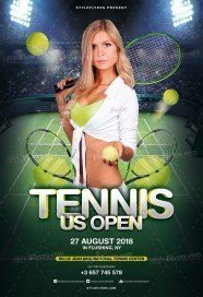 Tennis US Open PSD Flyer Template