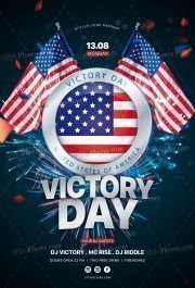 Victory Day PSD Flyer Template