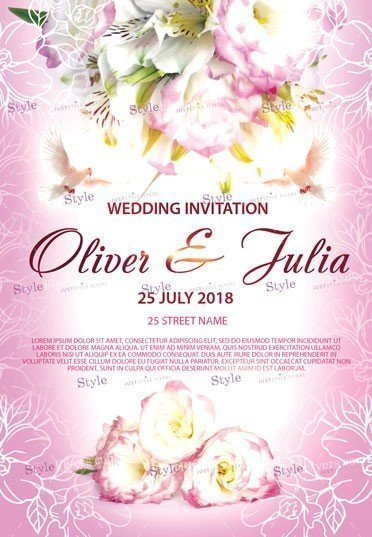 Wedding Invitation PSD Flyer Template #25032 - Styleflyers