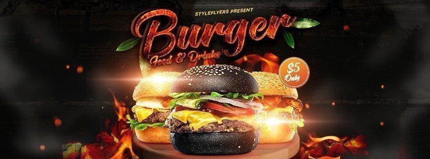 facebook_Burger_psd_flyer