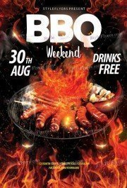 BBQ Weekend PSD Flyer Template