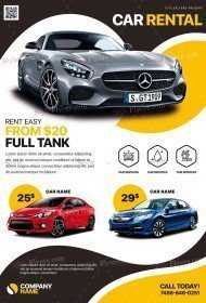 Car Rental PSD Flyer Template