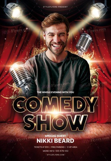 Comedy Show PSD Flyer Template