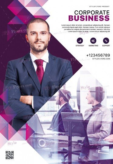 Corporate PSD Flyer Template