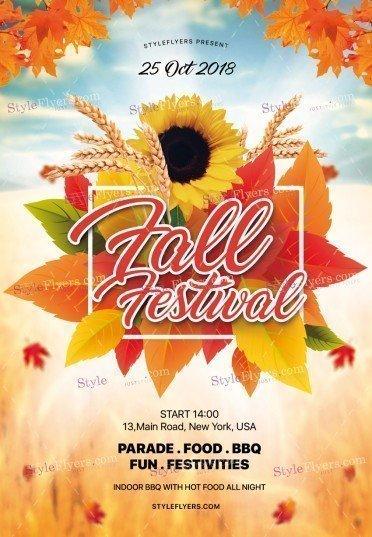 fall festival psd flyer template 25716 styleflyers