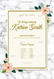 Funeral ProgramPSD Flyer Template