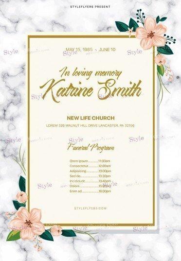Funeral ProgramPSD Flyer Template