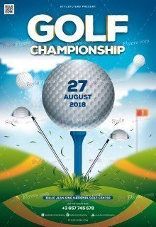 Golf Championship PSD Flyer Template