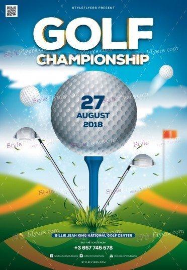 Golf Championship PSD Flyer Template