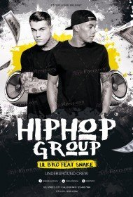 Hip Hop Group PSD Flyer Template