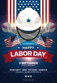 Labour Day PSD Flyer Template