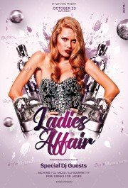 Ladies Affair PSD Flyer Template