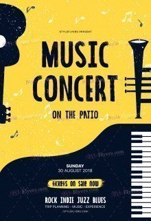 Music Concert PSD Flyer Template