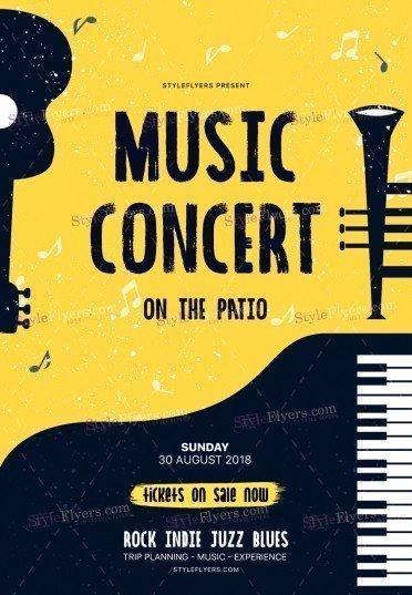 Music Concert PSD Flyer Template
