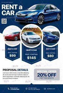 Rent A Car PSD Flyer Template