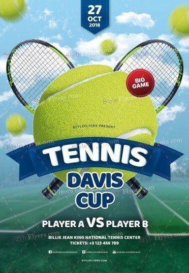 Tennis Davis Cup PSD Flyer Template