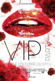 VIP Party PSD Flyer Template