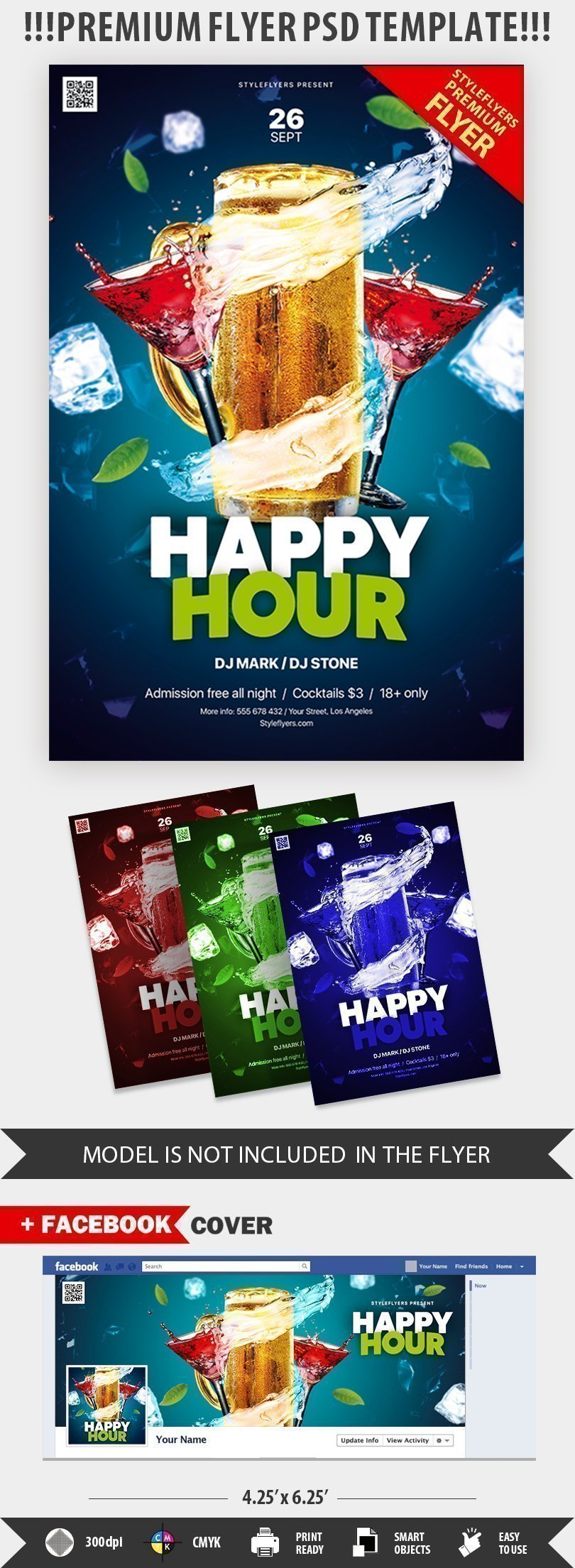 Happy Hour Psd Flyer Template 25689 Styleflyers