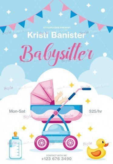 babysitting psd flyer template 26315 styleflyers