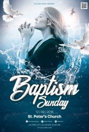 Baptism Sunday PSD Flyer Template