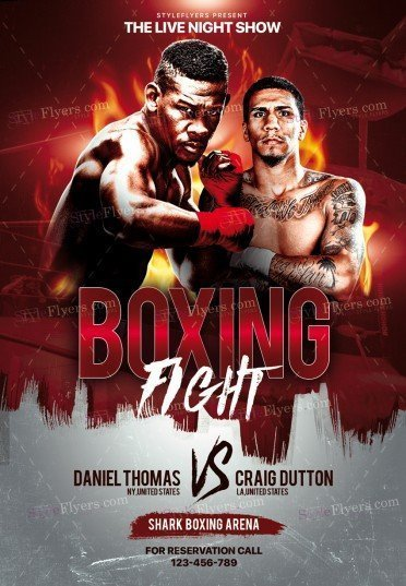 boxing psd flyer template 26089 styleflyers