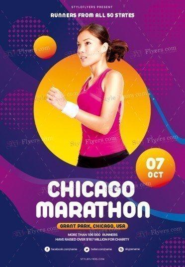 Chicago Marathon PSD Flyer Template