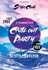 chillout party free psd flyer template - Free Psd Flyer Templates