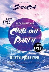 Chillout-Party-PSD-Flyer-Template