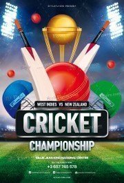 Cricket Championship PSD Flyer Template