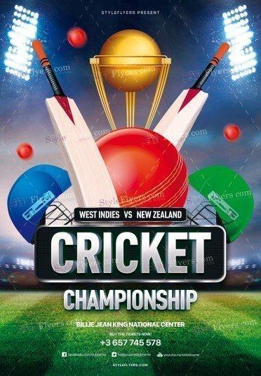 Cricket Championship PSD Flyer Template