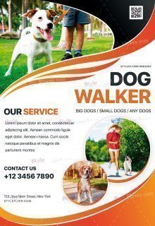 Dog Walker PSD Flyer Template