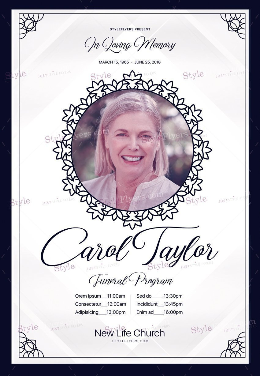 10 free and premium funeral psd flyers templates free