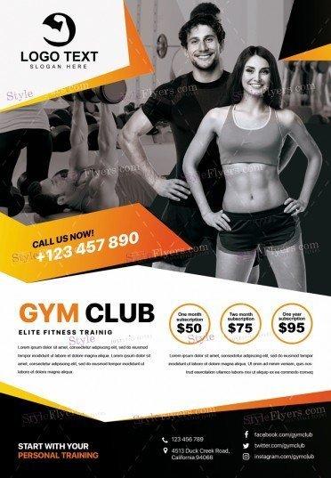 GYM PSD Flyer Template