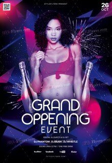 Grand Oppening Event PSD Flyer Template