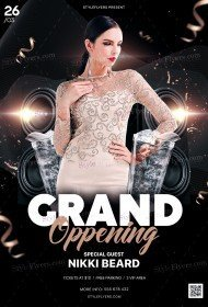 Grand Oppening PSD Flyer Template